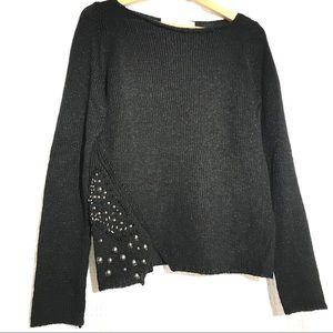 Zara black knit sweater- Size M
